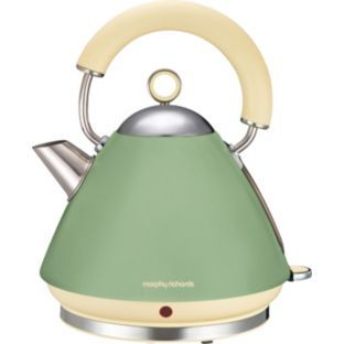 buy morphy richards vintage kettle green at. Black Bedroom Furniture Sets. Home Design Ideas