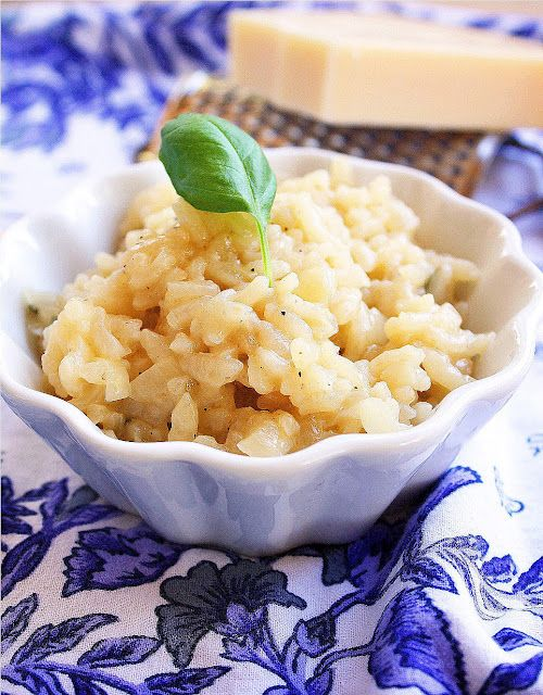 *****Easy Parmesan risotto – I made this for Christmas dinner with prime rib, and it was such a hit I made another batch the