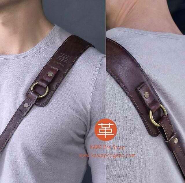 KAWA PRO STRAP LUX BROWN | men's fashion | vintage | genuine leather | handmade | leather camera strap | camera accesories | professional photography | handmade | DSLR | NIKON | FUJIFILM | CANON | LEICA | www.kawaprogear.com