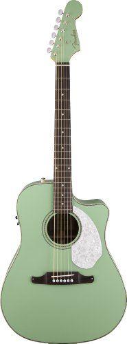 Fender Sonoran SCE, Surf Green Acoustic-Electric Guitar Fender http://www.amazon.com/dp/B00I56R0SG/ref=cm_sw_r_pi_dp_rYCevb0K41M5D
