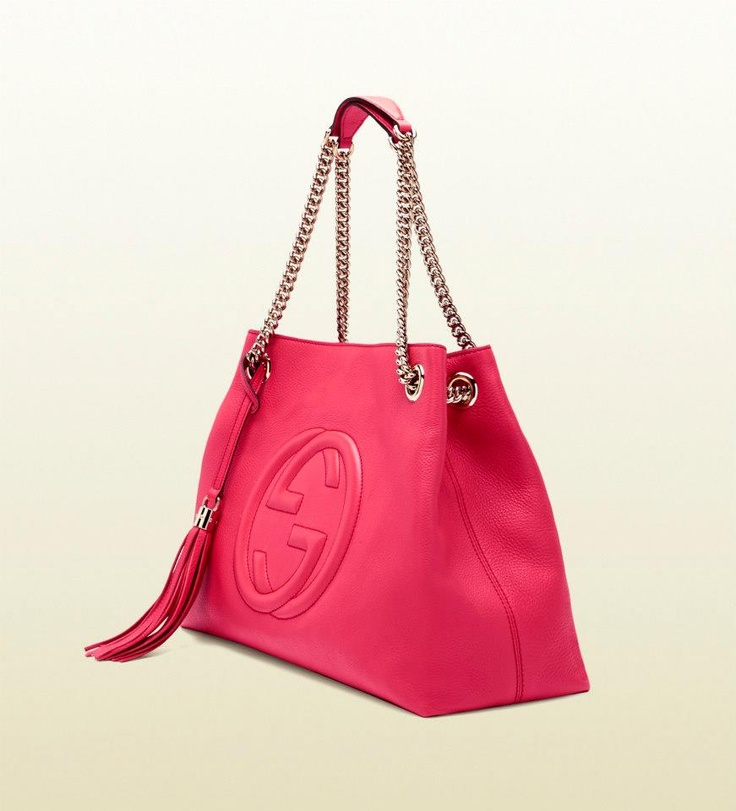 Gucci Tote In Hot Pink