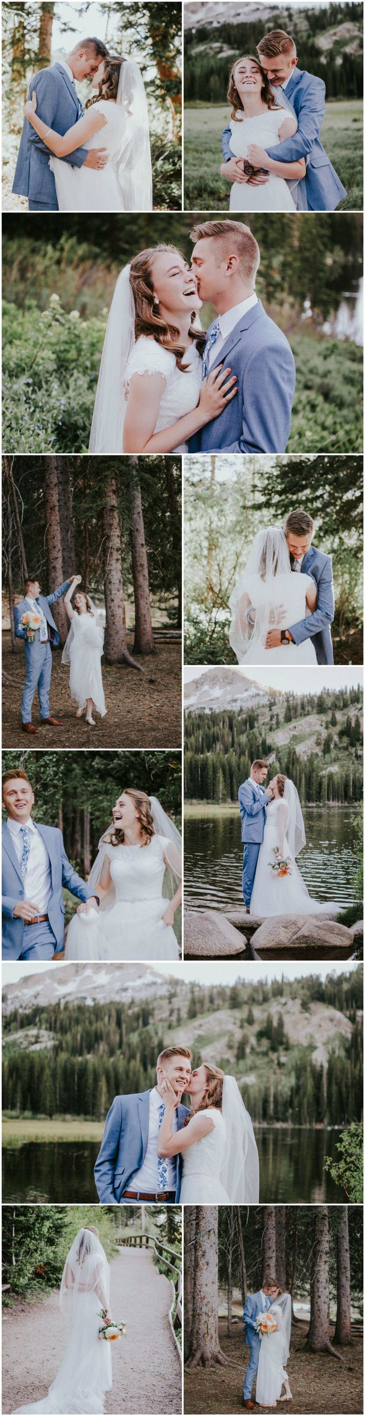 Mountain Outdoor Wedding Photography poses and ideas | Silver lake, authentic smiling, poses! | Simply Amor Photography  #elopement #adventureelopement #weddingphotography