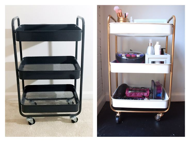 "A while back I bought a metal storage cart from Target, which I used for various things throughout the past year. Now, I decided to use it as a ""beauty cart."" However, I wasn't to…"