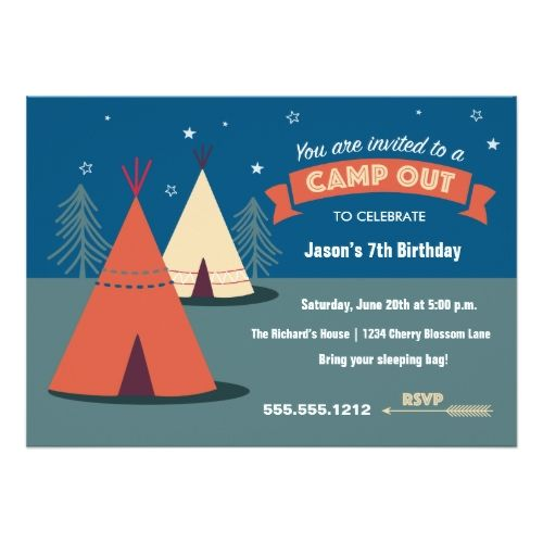 135 best camping birthday party invitations images on pinterest camp out party card camping invitationsbirthday filmwisefo Image collections