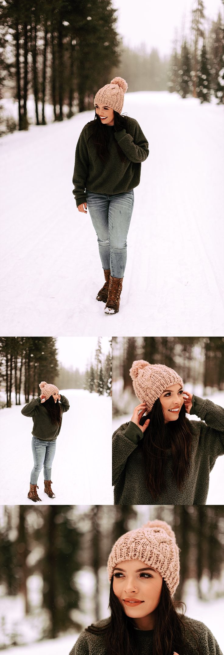 snowy senior session
