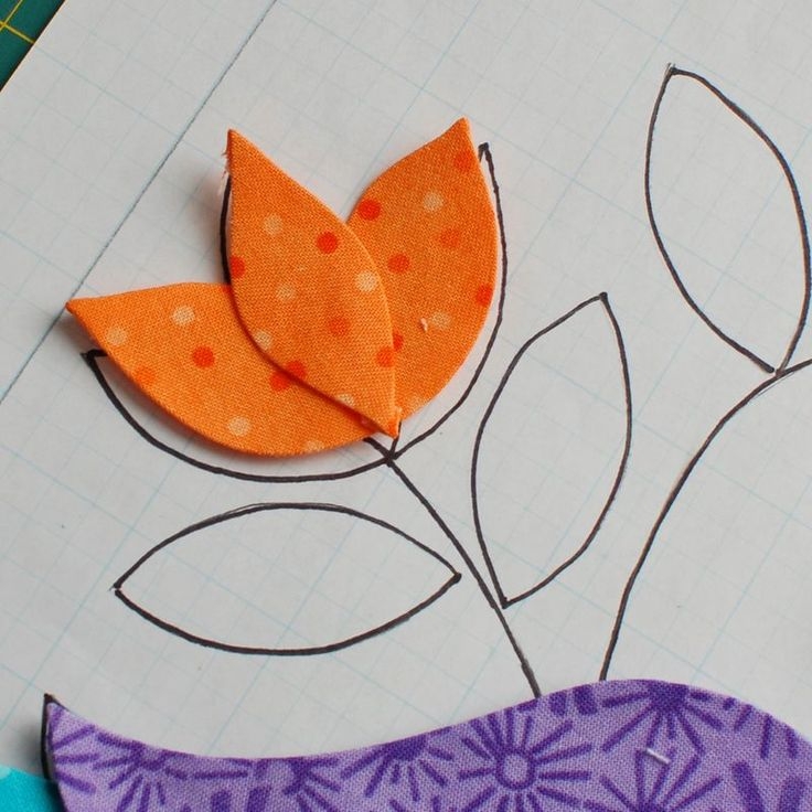 How to put an applique flower together