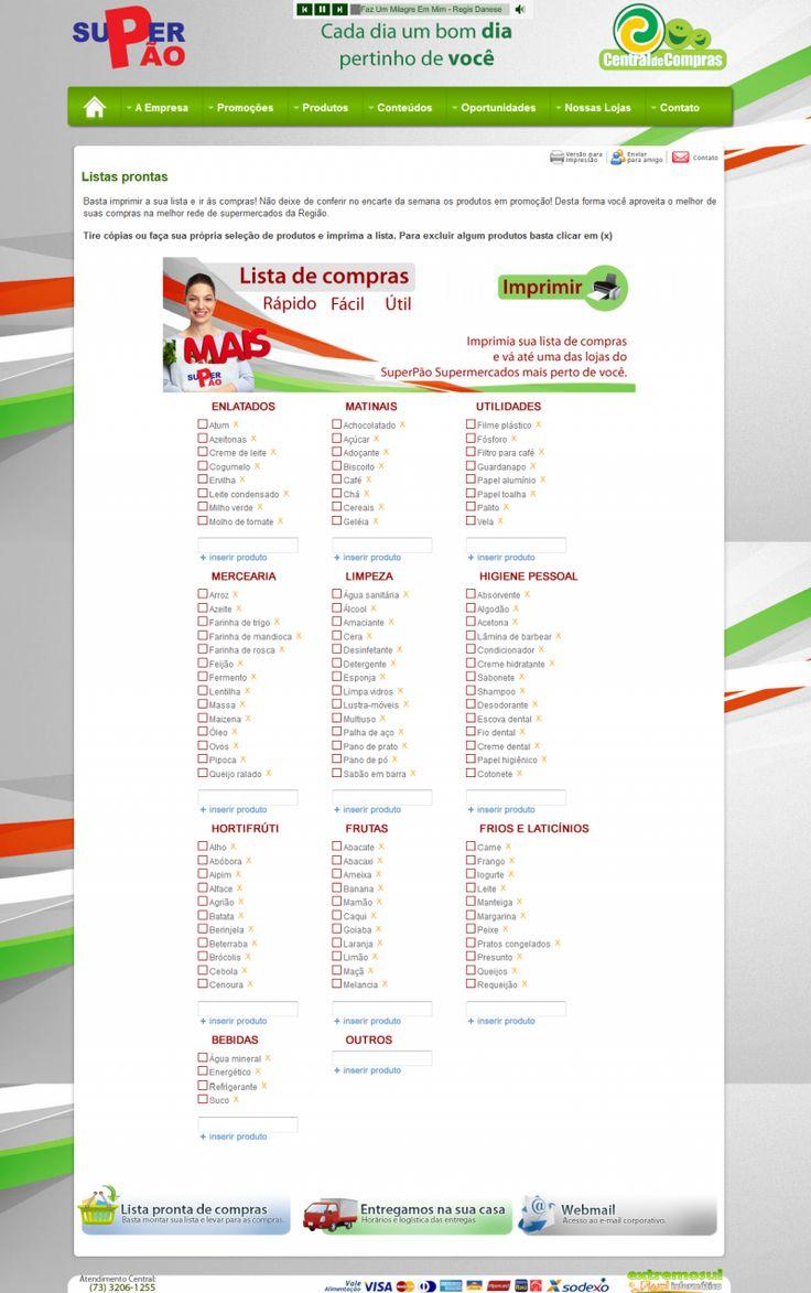Lista De Compras De Supermercado Completa Como Fazer
