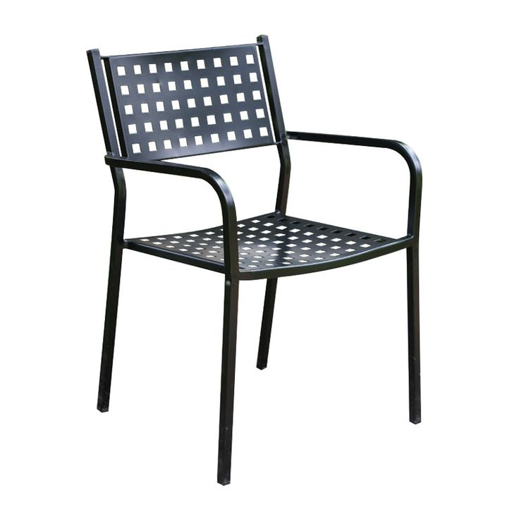 Caprice garden armchair steel black
