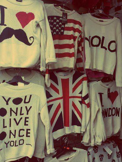 LOVE LOVE LOVE all these shirts!! American, British, YOLO, mustache tees !! HEAVEN!!