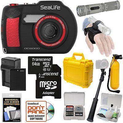 SeaLife DC2000 HD Underwater Digital Camera with AquaPod Selfie Stick  64GB
