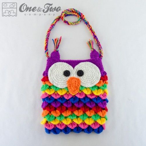 Colorful Owl Purse Crochet Pattern by One and Two Company
