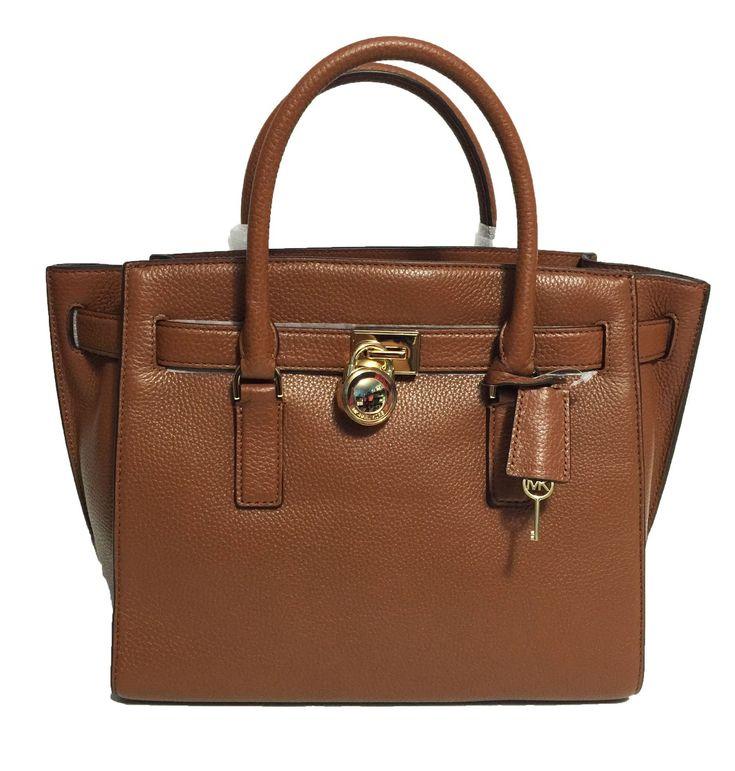 Michael Kors Hamilton Traveler Leather Tote (Luggage)