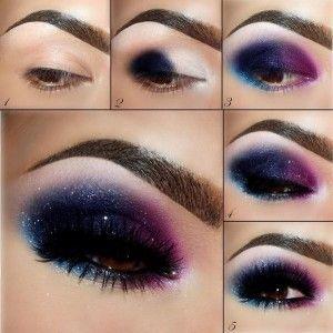 Galaxy Makeup Design