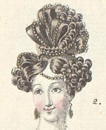 1828 Abendfrisur