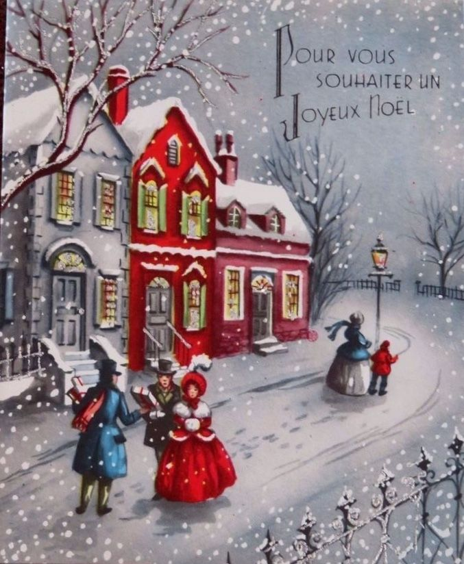 608 best Old Fashioned Christmas: Cards - Buildings images ...