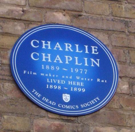 Charlie Chaplin - Blue Plaques London