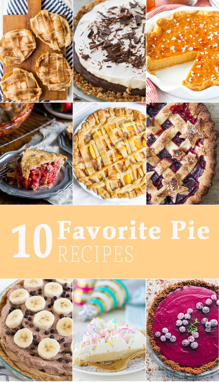 10 FAVORITE PIE RECIPES FOR PI DAY! 10 fun and easy pie recipes perfect for year round, but especially the best holiday ever, Pi Day! via @beckygallhardin