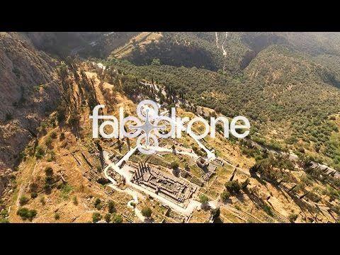 drone aerial view of Delphi - Ο αρχαιολογικός χώρος των Δελφών από ψηλά