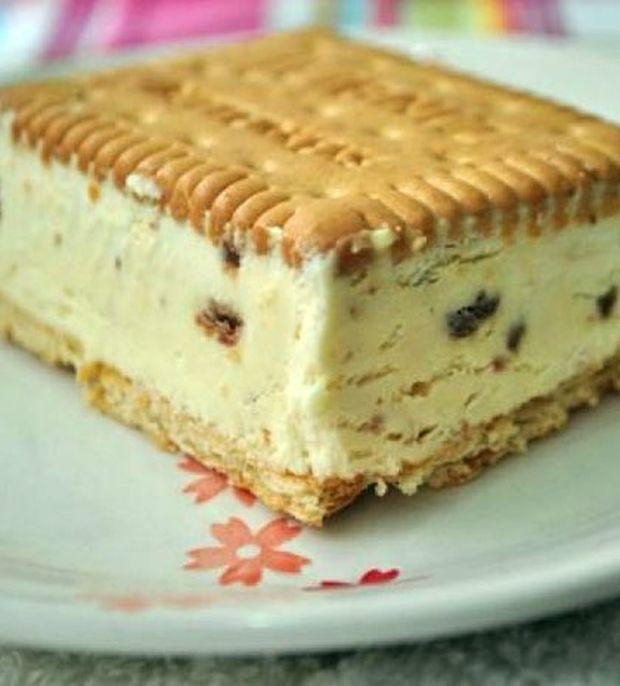 Παγωτό με μπισκότο για λιχούδες τεμπέλες
