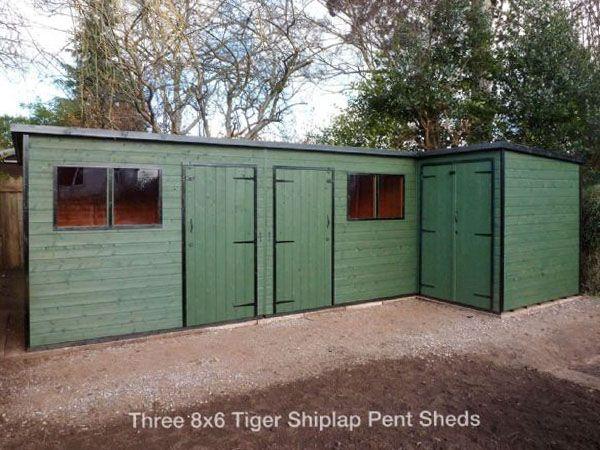Shiplap Pent Sheds | Wooden Shiplap Sheds by Tiger Sheds