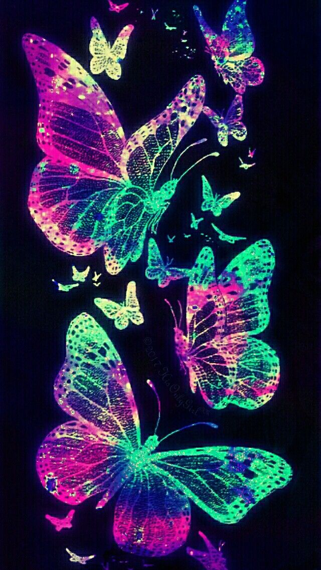Butterfly garden galaxy iPhone/Android wallpaper I created for the app CocoPPa!