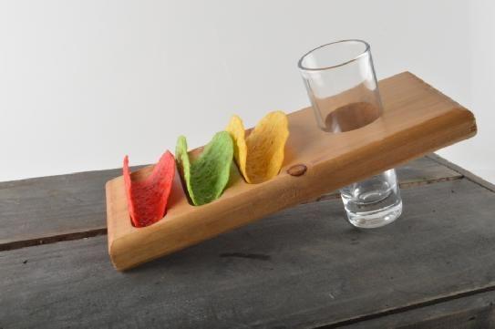 3 Tacos and a Shot. @EL PANZON #TacoMan is very clever.