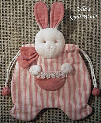 Quilt Mundial de Ulla: bolsa de coelho acolchoado, retalhos japonês