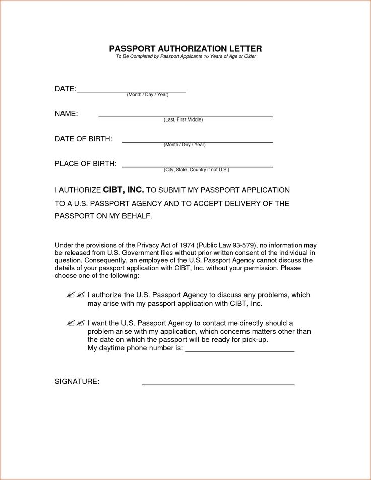 Parental Consent Form For Passport Travel And Medical