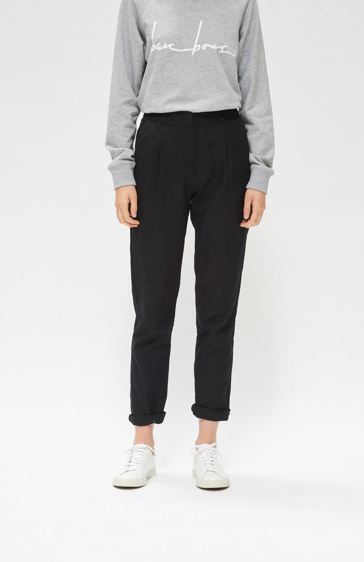 Classic Trouser - Black Well Made Clothes