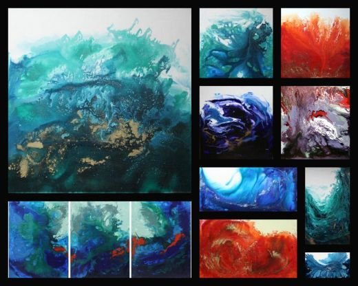 37 best images about painting pouring technique on for Cool watercolor tricks