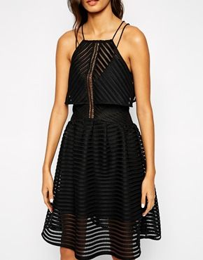 self portrait cropped overlay dress in sculpted mesh asos
