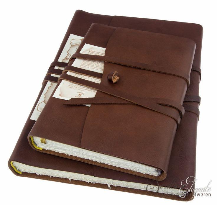 Leren notitieboek Legatoria Koiné - Corniglia - Klassieke schrijfwaren en kalligrafie