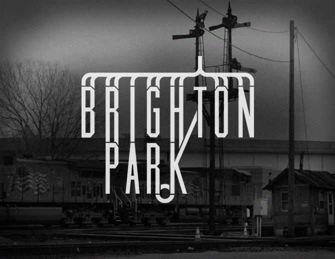 """Brighton Park"" neighborhood logo - a part of the Chicago Neighborhoods project 