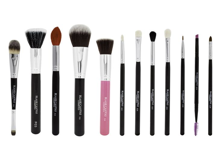 Face & Eyes Professional Makeup Brushes, 12 Piece, Brushes Only