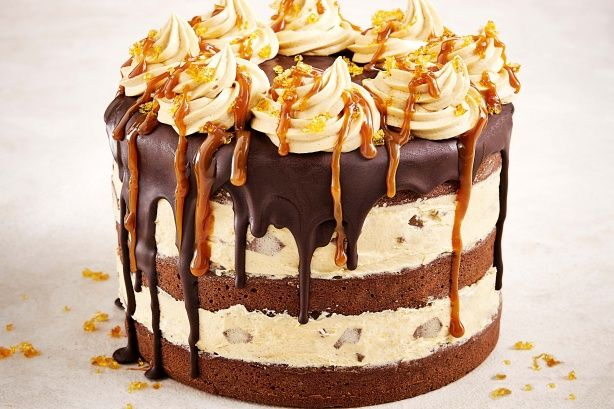 Caramello cake - With fudgy layers of chocolate cake and caramel buttercream laced with hidden hints of gooey Caramello, this is the ultimate choc-caramel creation! For the full flavour effect, take it out of the fridge about 30 minutes beforehand and serve at room temperature.