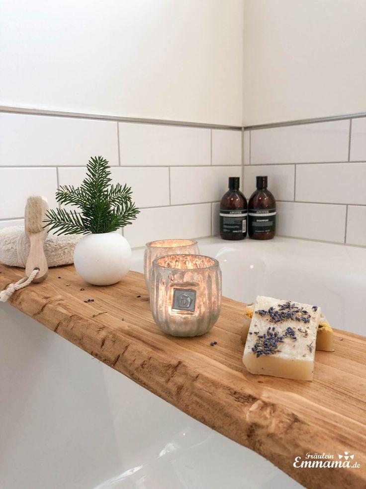 DIY-Badewannenregal mit in Essig eingelegtem Kaffee – Miss Emmama   – INTERIOR ♡ VIB Wohnklamotte