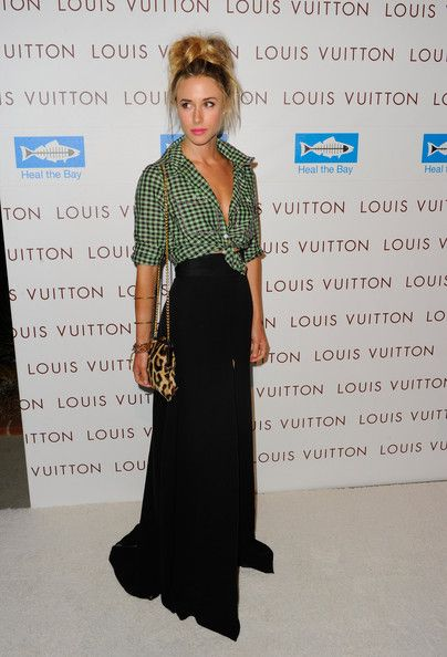 Gillian Zinser, love the classic  maxi skirt with the hillbilly top