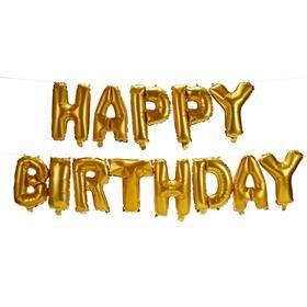 Happy Birthday Foil Balloon Garland