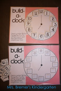 This fun idea will help your kindergarteners learn how to tell time in a fun easy way! One will be able to place the correct numbers next to the proper spot! It is a fun way to learn how to tell time, something students really struggle with!1.MD.3.