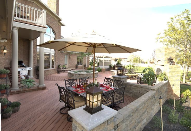 Timbertech Evolutions Pacific Redwood Deck With Paver