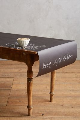 Anthropologie Chalkboard Table Runner