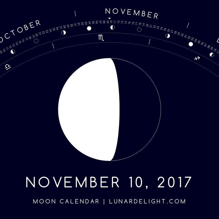 Friday, November 10 @ 00:05 GMT  Waning Gibboust - Illumination: 60%  Next New Moon: Saturday, November 18 @ 11:42 GMT Next Full Moon: Sunday, December 3 @ 15:48 GMT