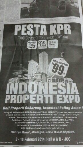 First time...to involve in Indonesia Property Expo in JCC 2014.