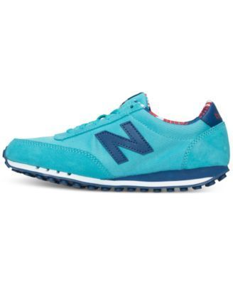 New Balance Women's 410 Hawaiian Casual Sneakers from Finish Line - Blue 8.5