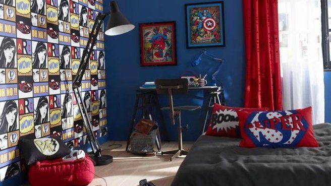 17 meilleures id es propos de chambre marvel sur pinterest chambre avengers salle marvel et. Black Bedroom Furniture Sets. Home Design Ideas