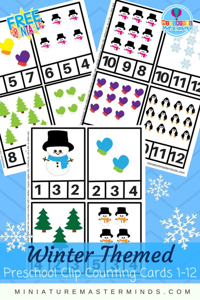 Winter Themed Preschool Clip Counting Cards 1 Thru 12 Day 2 of our Christmas countdown consists of these winter themed preschool clip counting cards! Count each card from 1 to 12 with fun snowmen, …