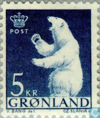 Groenland Timbres 1963 - Ours polaire 5