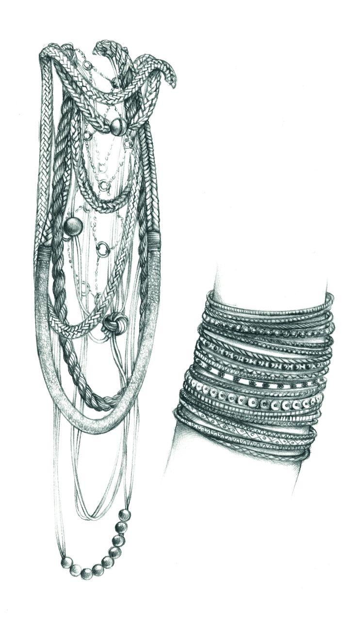 necklace bracelet illustration jewel Florence Gendre