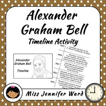 This is a timeline activity that can be used for practising personal timelines or looking at people in history who have contributed to society through science or technology. Alexander Graham Bell is the focus of this timeline. 14 key events of his life are included. The timeline is presented in two different ways to allow for differentiation.
