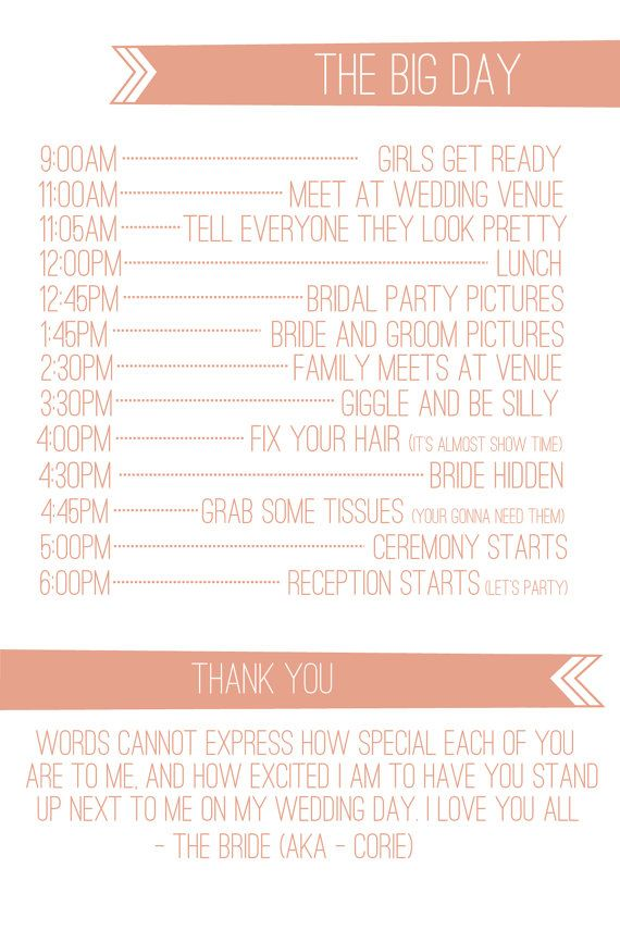 Banner Wedding Itinerary by SimpleSimonDesign on Etsy, $60.00